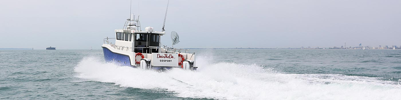 Custom Boat Charters For Sightseeing from Gosport and Portsmouth
